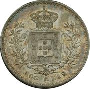 500 reis - Charles I -  revers