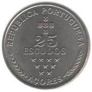 25 escudos Région autonome des Açores -  revers