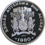 100 escudos Autonomie régionale des Açores (argent) – avers