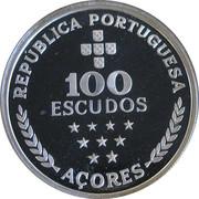 100 escudos Autonomie régionale des Açores (argent) – revers