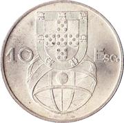 """10 escudos """"Caravelle"""" 2ème type -  revers"""