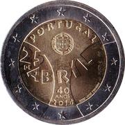 2 euros Révolution des Œillets -  avers