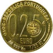 0,25 euro Luís de Camões – avers