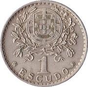 1 escudo -  revers