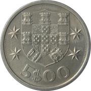 5 escudos -  revers
