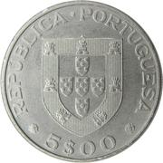 5 escudos Alexandre Herculano -  avers