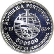 500 escudos (Découvertes et renaissance) -  avers