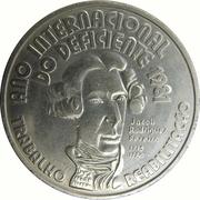100 escudos Année internationale des personnes handicapées – revers