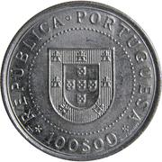100 escudos Restauration de l'indépendance -  avers