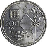 200 escudos Division du monde – avers