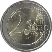 2 euros (1ère carte) -  revers