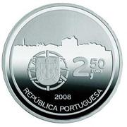 2,50 euros Centre historique de  Porto (argent) – avers