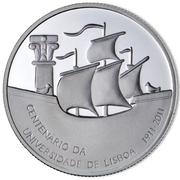 2,50 euros Université de Lisbonne (argent) – revers