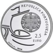 2,50 euros Université de Lisbonne (argent) – avers