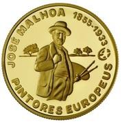 2,50 euros José Malhoa (or) – revers