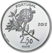 2,50 euros JO 2012 Jeux d'été de Londres (or et argent) – avers