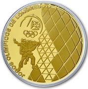 2,50 euros JO 2012 Jeux d'été de Londres (or et argent) – revers