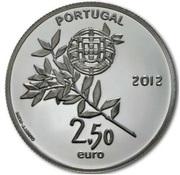 2,50 euros JO 2012 Jeux d'été de Londres (argent) – avers