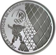 2,50 euros JO 2012 Jeux d'été de Londres (argent) – revers