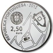 2,50 euros Centre historique de Guimarães (argent) – avers