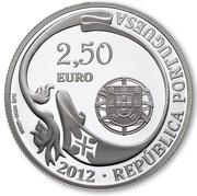 2,50 euros Navire école Sagres (argent) – avers