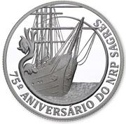 2,50 euros Navire école Sagres (argent) – revers