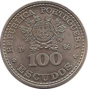100 escudos Mexico 86 – avers