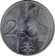 Portugal 2.50 2,50 euro 2015 Provedor Justiça Justice Provider UNC