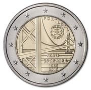 2 euros Pont du 25 Avril -  avers