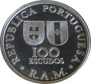 100 escudos Autonomie régionale de Madeira (argent) – avers