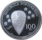 100 escudos Afonso Henriques (argent) -  avers
