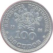 100 escudos Mexico 86 (argent) – avers