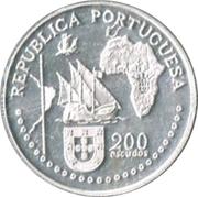 200 escudos Traité de Tordesillas (argent) – avers