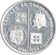 200 escudos Traité de Tordesillas (argent) – revers