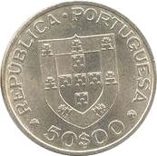 50 escudos Maréchal Carmona – avers