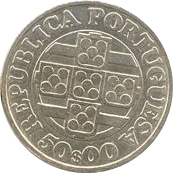 50 escudos Banque du Portugal – avers