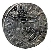 """Vintém (couronné M avec """"o-o"""" de chaque côté et L sous M, Lisbonne frappe) - Manuel I – revers"""
