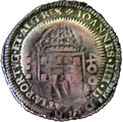 500 réis - Pierre II (monnaie contremarquée) -  avers
