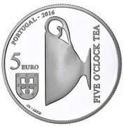 5 euro Catarina de Bragança (argent) -  avers