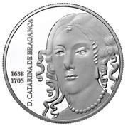 5 euro Catarina de Bragança (argent) -  revers