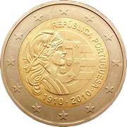 2 euros République portugaise -  avers