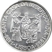 1000 escudos Église de la Miséricorde -  revers