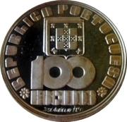 100 escudos Fernando Pessoa (argent) – avers