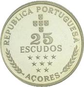 25 escudos Région autonome des Açores (argent) -  revers
