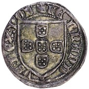 Demi tornês escudo - Ferdinand I (Lisbonne frappe) – avers