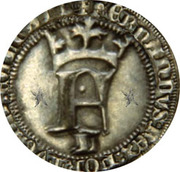 Meio real - Ferdinand I – avers
