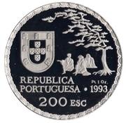 200 escudos Art namban (platine) – avers