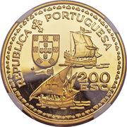 200 escudos Henri le navigateur (or) – avers