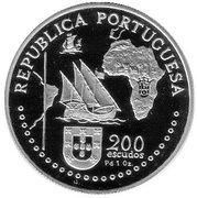 200 escudos Traité de Tordesillas (palladium) – avers