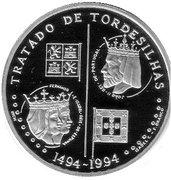 200 escudos Traité de Tordesillas (palladium) – revers